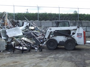 MR Recycling Depot - Bobcat in Metals Yard