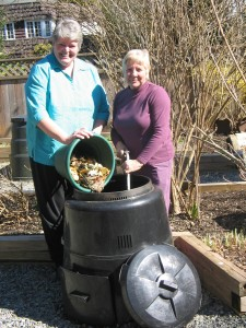 Kelli Speirs & Joy Gallop with Composter - 2006