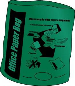 Green (Office Paper) Bag