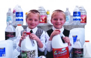 Walker & Wyatt Suddaby with Plastic Bottles