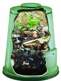 inside a compost bin