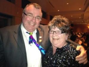 2012 Citizen of the Year Candace Gordon & Mayor Ernie Daykin at MR Community Foundation Awards - April 12, 2012