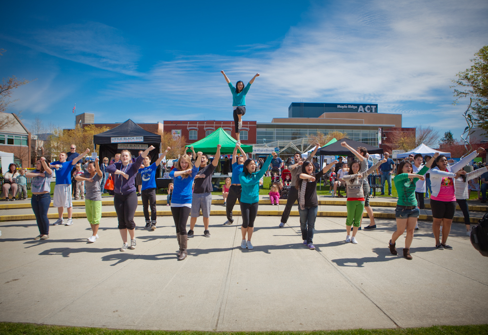 SFU Cheerleading Flash Mob at Earth Day 2012