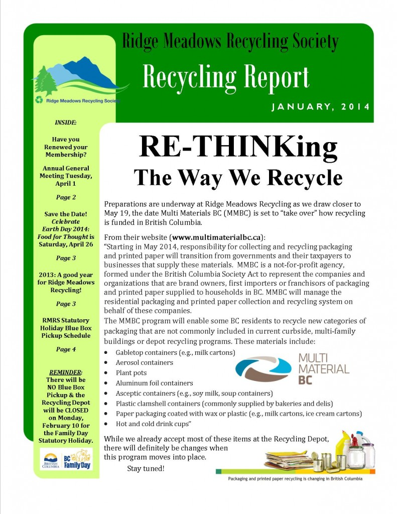 RMRS January, 2014 Newsletter - Page 1