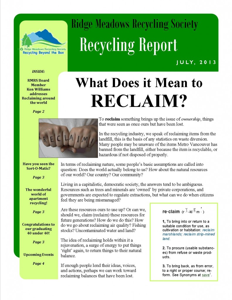 RMRS July, 2013 Newsletter - Page 1