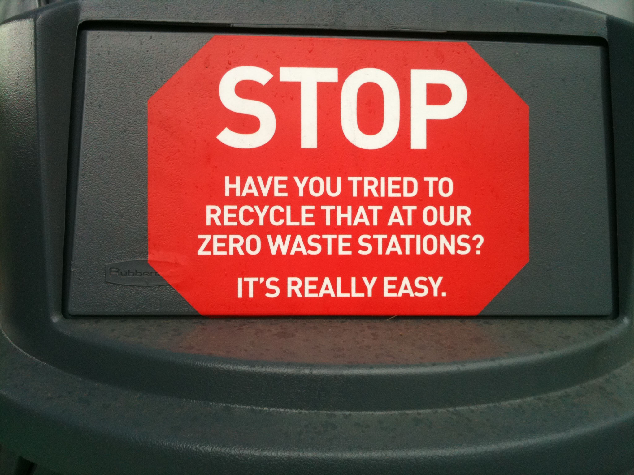 Stop! Modified Garbage Lid for Zero Waste Station