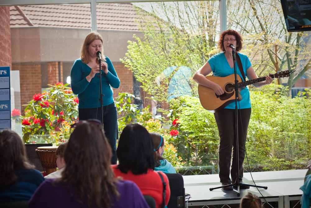 Two Tall Women at Earth Day 2012