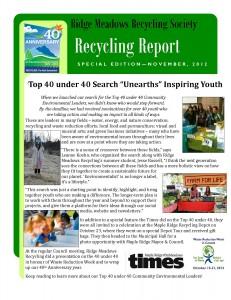 RMRS November, 2012 Newsletter - page 1