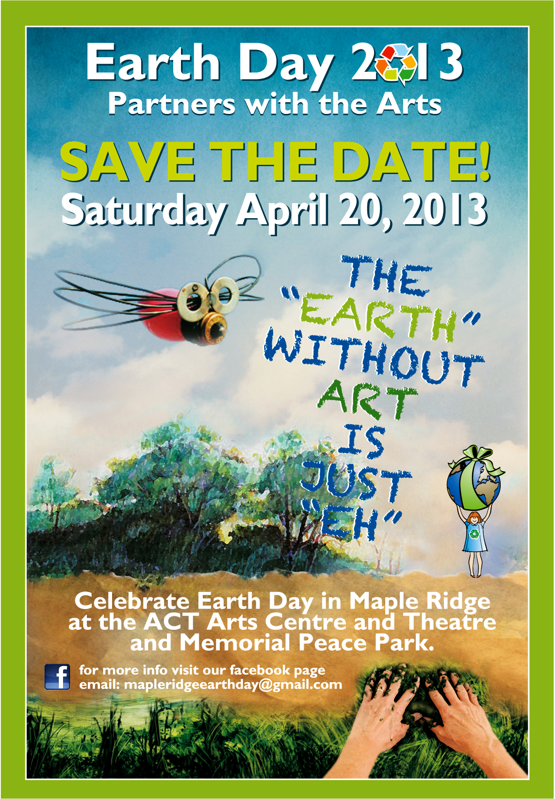 Earth Day 2013 Save The Date Flyer