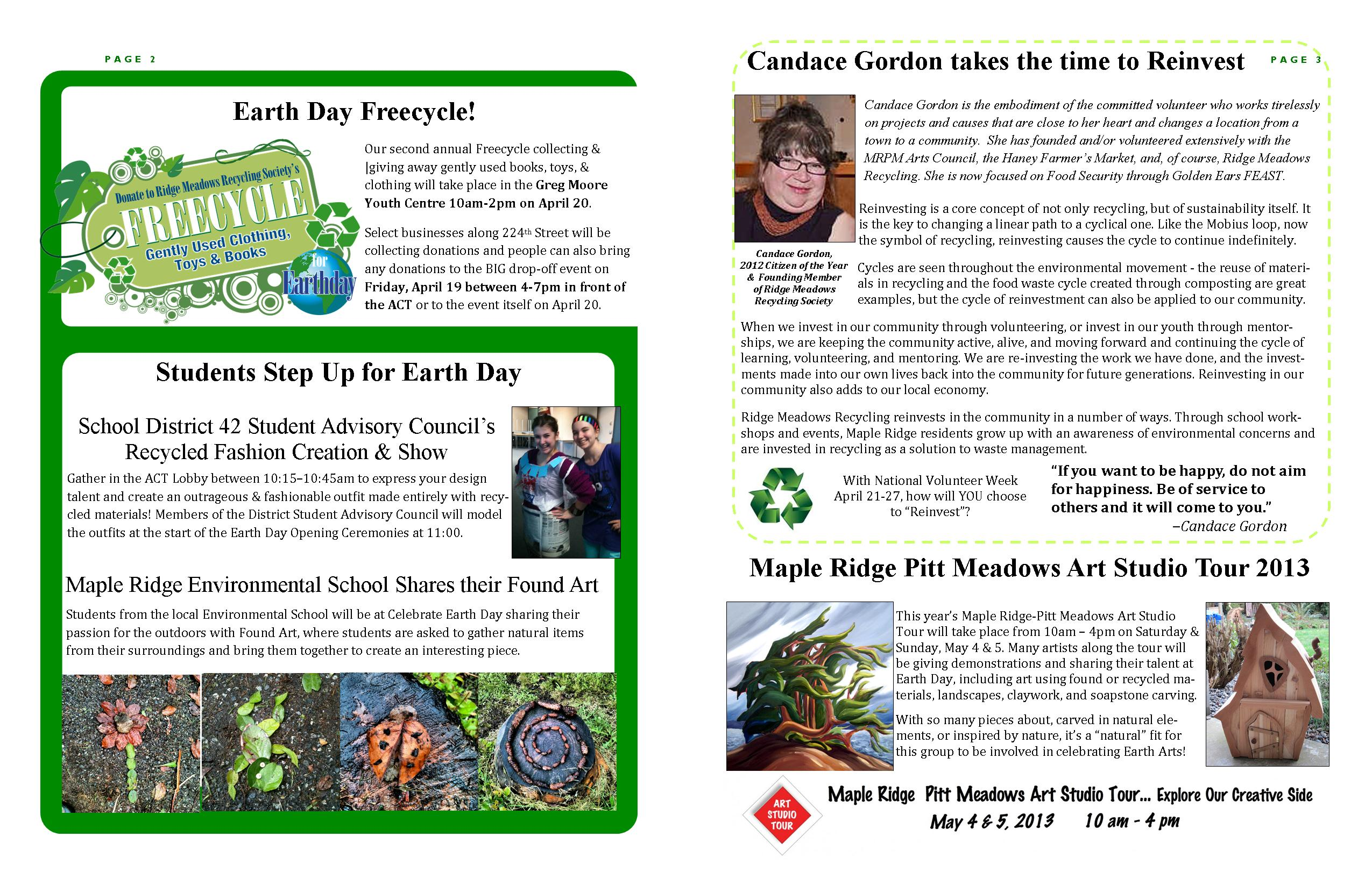 RMRS April, 2013 Newsletter - Pages 2-3