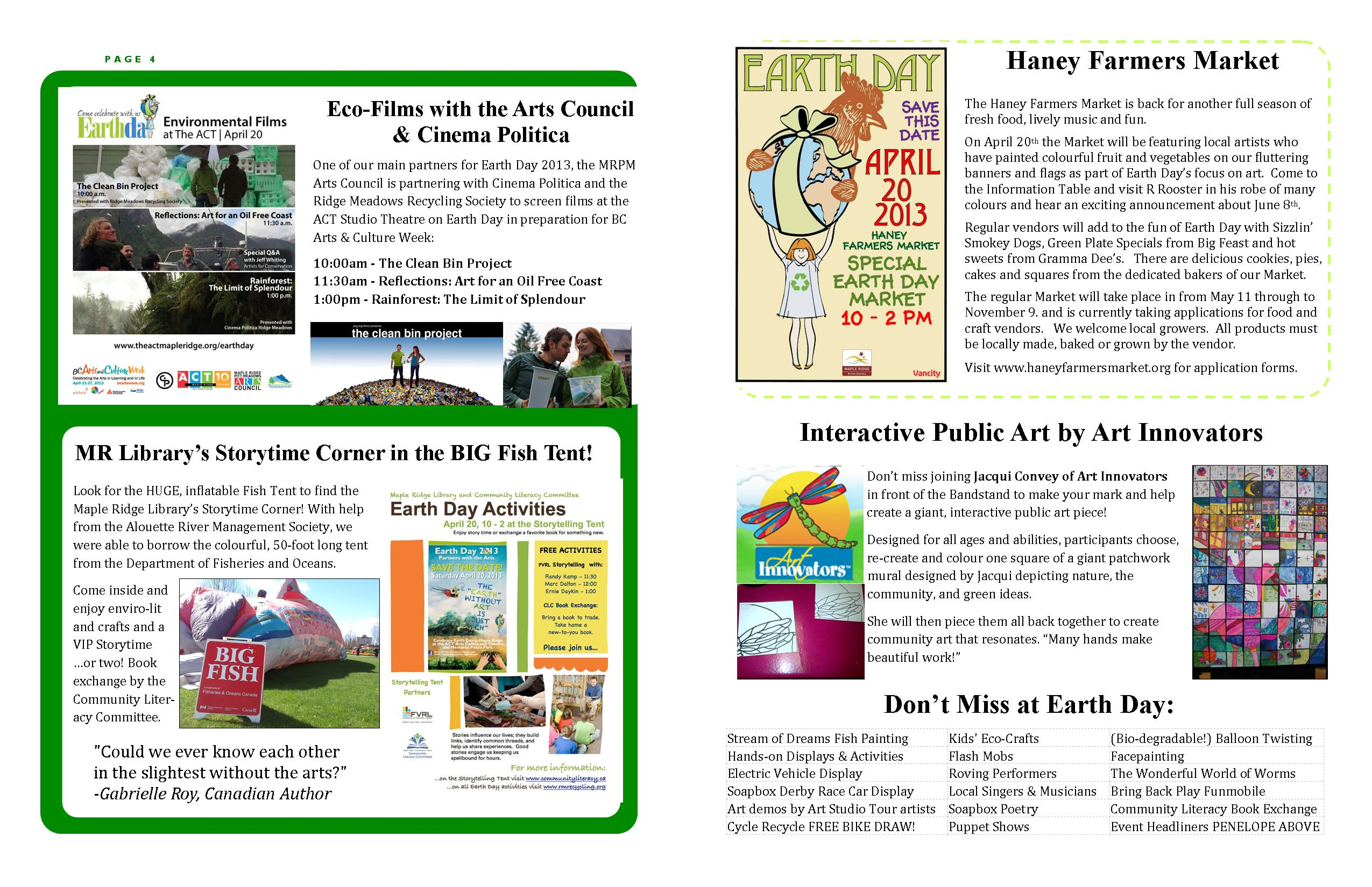 RMRS April, 2013 Newsletter - Pages 4-5