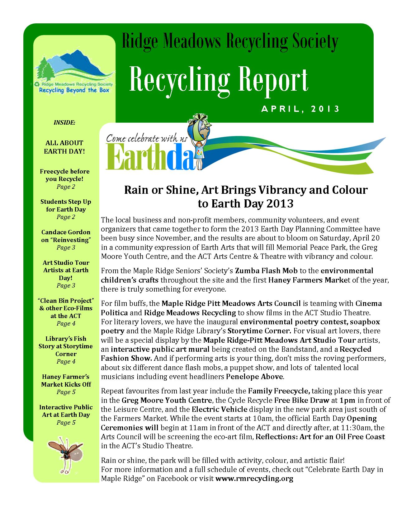 RMRS April, 2013 Newsletter - page 1