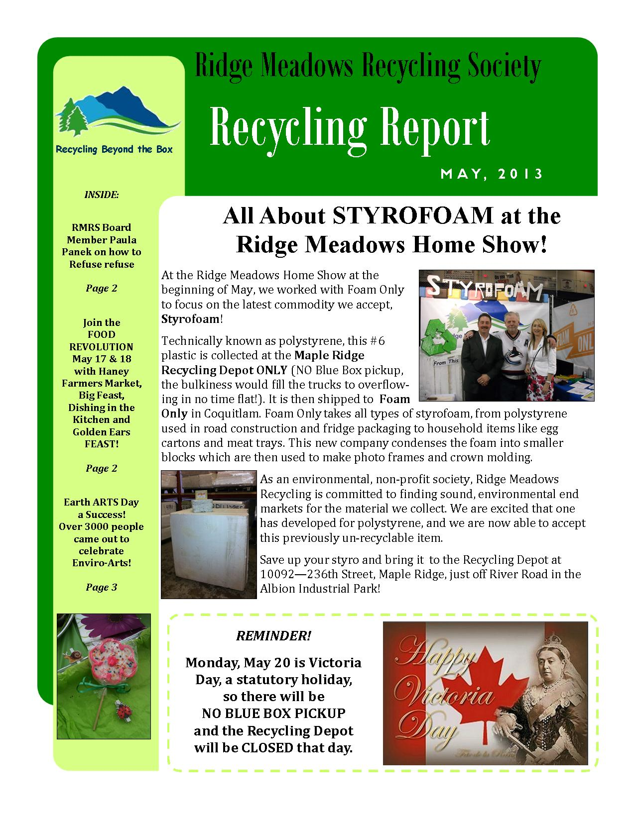 RMRS May, 2013 Newsletter - Page 1