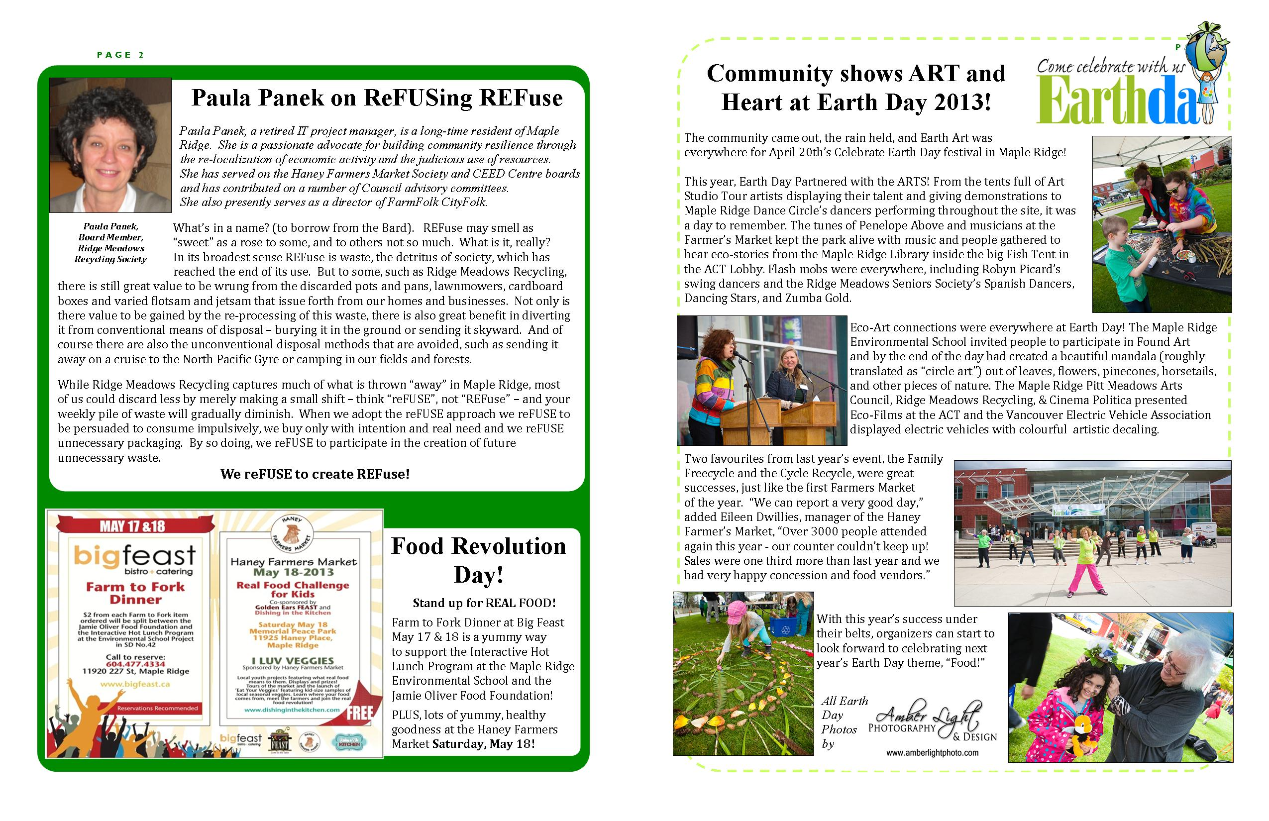 RMRS May, 2013 Newsletter - Pages 2 & 3