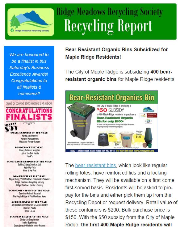 February, 2016 Newsletter - screen shot