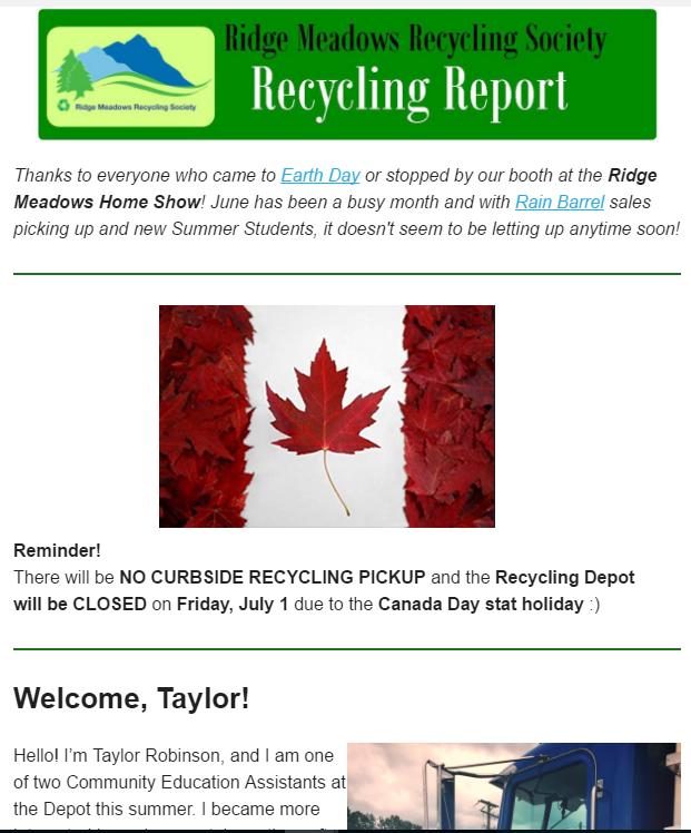 June, 2016 Newsletter - screen shot